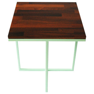 Cheese Department Servez Coffee Table, Mint Green and Walnut