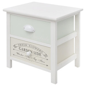 VidaXL Shabby Chic French Bedside Cabinet, Wood