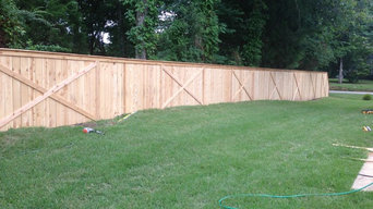 New Custom Cedar Fencing