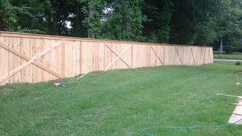 New Custom Cedar Fencing