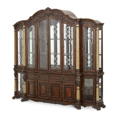 AICO Furniture, Victoria Palace China and Buffet With Side Piers, 4-Pieces