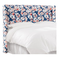 Remington Wingback Headboard In Color Block Floral Navy Blush Twin
