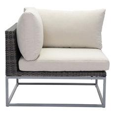 Zuo Synthetic Weave, Sunproof Fabric, Aluminum Frame Corner Brown, Beige