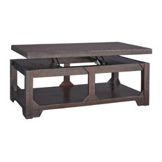 Rogness Casual Rustic Brown Lift Top Cocktail Table