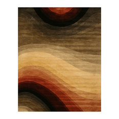 "MOD - Hand-Tufted Desert Colors Wool Rug, 7'9""x9'9"" - Area Rugs"