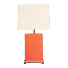 Mario Industries   Montaldo Ceramic Block Table Lamp Coral   Table Lamps