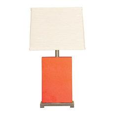 Montaldo Ceramic Block Table Lamp-Coral