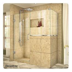 "Unidoor Plus 60""x36.375""x72"" Shower Enclosure, Oil Rubbed Bronze"