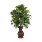 Areca Palm With Urn Silk Plant