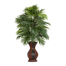 Areca Palm With Urn Silk Plant