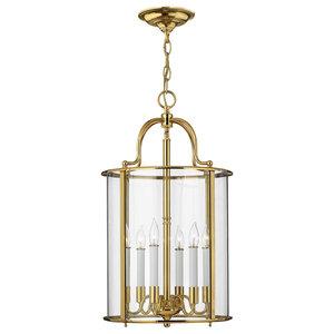 Gentry Timeless Large Pendant, Polished Brass