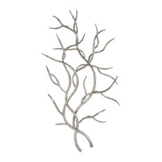 Uttermost 04053 Silver Branches Wall Sculptures, 2-Piece Set