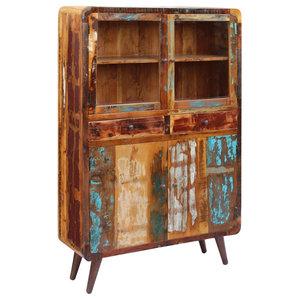 vidaXL Solid Reclaimed Wood Sideboard, 120x38x180 cm