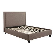 Natalie Upholstery Platform Bed, Queen