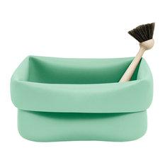 Normann Copenhagen Mint Washing-Up Bowl and Brush