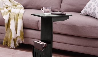 Wood Magazine End Table for Home Office