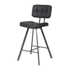 Modern George Bar Stool, Black