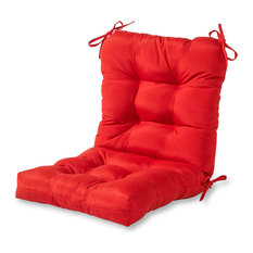 Outdoor Seat and Back Chair Cushion, Salsa Red