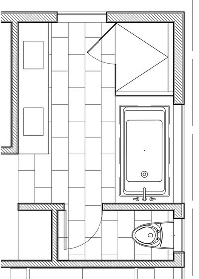 Floor Plan 100-Square-Foot Bathrooms