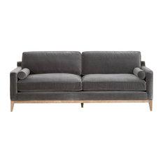 Parker 86-inch Post Modern Sofa Dark Dove Velvet