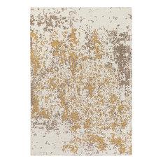 PlushRugs Imports Pyramids Aral 9'x13' Beige, Gold Rug