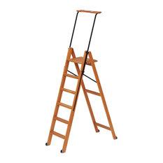 Tuscania Cherry Safety Step Ladder, 6 Steps