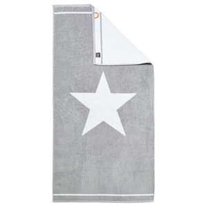 1 Star Beach Towel, Silver and White