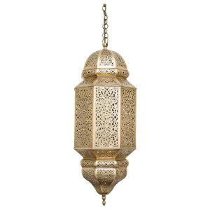 Antique Brass Amira Pendant, Medium