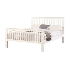 Howard Panel Bed, White, Double