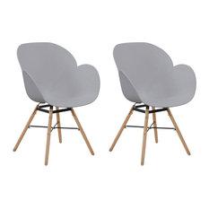 Amalia Dining Chairs, Grey, Set of 2