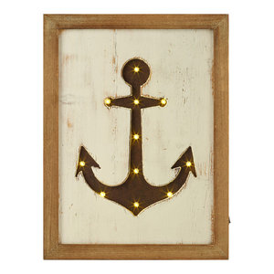 Framed LED Anchor Picture, 30x76 cm