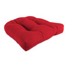 Jordan Manufacturing Sunbrella Countour Seat Cushion, Jockey Red