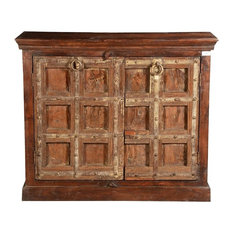 Simply Gothic Reclaimed Wood Buffet Freestanding Cabinet