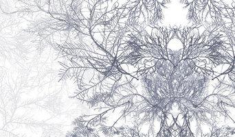 Ceramium Printed Linen -  closeup