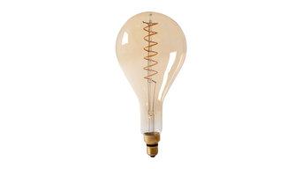 Calex Giant LED Tear Drop Dimmable Flex Filament Lamp, PS160, Gold