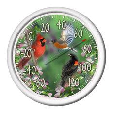 "Spring Birds Thermometer 13.25"""