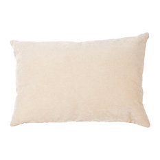"""Jaipur Living Luxe Ivory Solid Down Throw Pillow 16x24"""", 16""""x24"""", Poly Fill"""