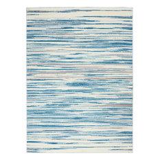 Nourison Jubilant Striped Rug, Blue, 6'x9'