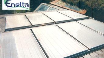 Paneles Solares sobre tejado de pizarra