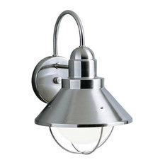 Kichler Outdoor Wall Light, Brushed Nickel With Incandescent