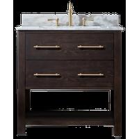"""Windwood 36"""" Bathroom Vanity, Brown Oak"""