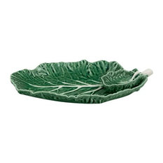 Bordallo Pinheiro Cabbage Ceramic Plate With Small Bowl