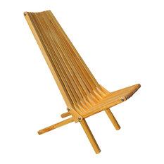 GloDea Foldable Outdoor Lounge Chair X45, Honey