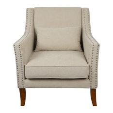 Hamilton French Armchair, Light Brown