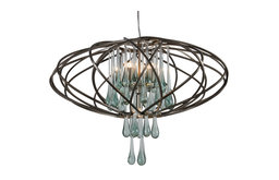 Area 51 5-Light Pendant, New Bronze and Clear