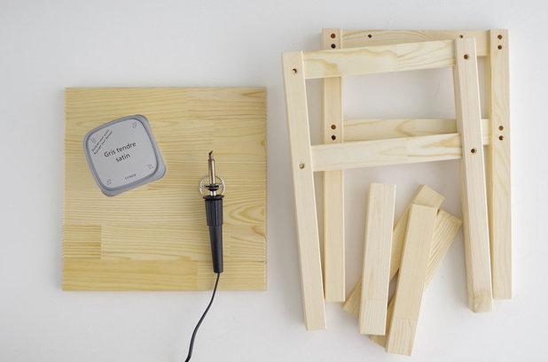 diy customiser des tabourets avec la pyrogravure. Black Bedroom Furniture Sets. Home Design Ideas
