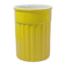 Omniware Simsbury Yellow Ceramic Utensil Holder