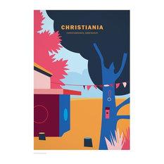 """Christiania"" Poster, 21x29.7 cm"