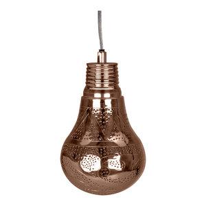 Handmade Lantern Pendant, Antique Copper, Small
