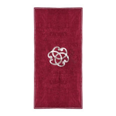Serenity Beach Towel, Red and White